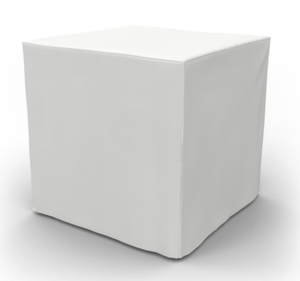 Small White Ottoman Cube rental New Orleans, LA