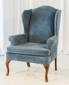 Blue Armchair rental New Orleans, LA