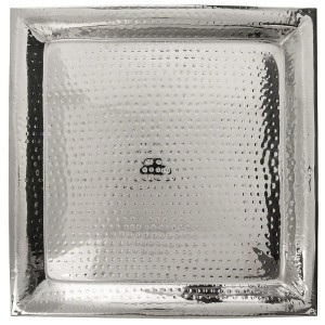 Hammered Square Tray Large rental New Orleans, LA