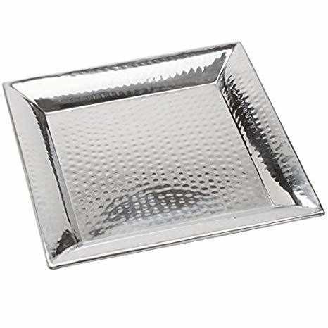 Hammered Square Tray Small rental New Orleans, LA