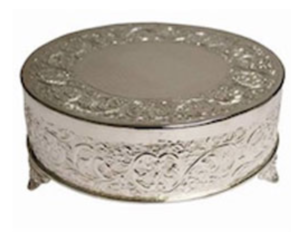 Round Silver Cake Stand rental New Orleans, LA