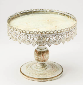 Antique White Cake Stand rental New Orleans, LA