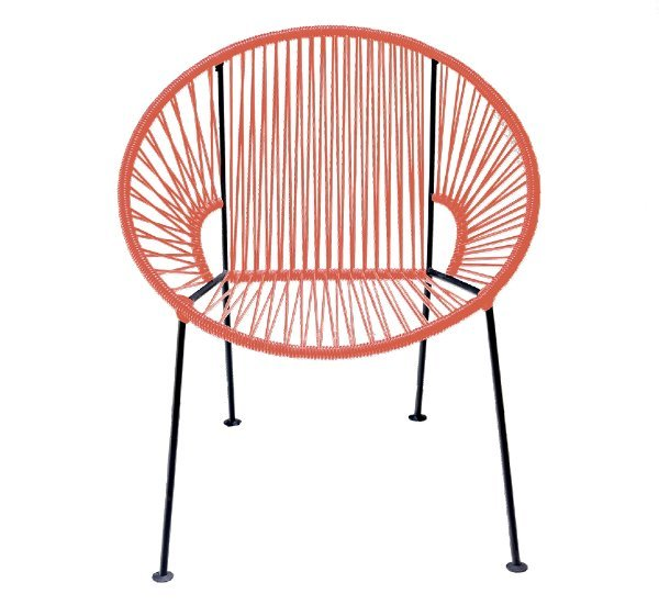 Coral PVC Cord Chair rental New Orleans, LA