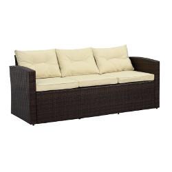 Brown Wicker Sofa rental New Orleans, LA