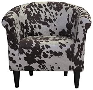 Cowhide Barrel Chair rental New Orleans, LA