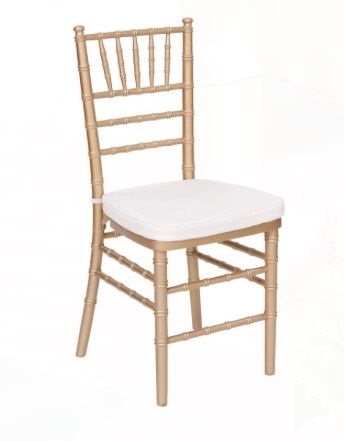 Gold Chiavari Chair with Cushion rental New Orleans, LA