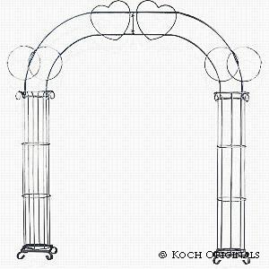 Double Ring Heart Arch rental Nashville, TN