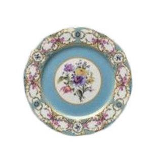Floral Vintage Blue Dinner Plate  rental Nashville, TN