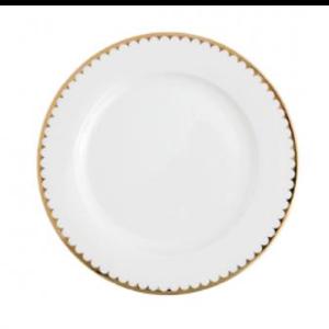 White with Gold Rim Dinner Plate rental Nashville, TN