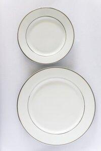 Silver Rim Dinner Plates rental Nashville, TN