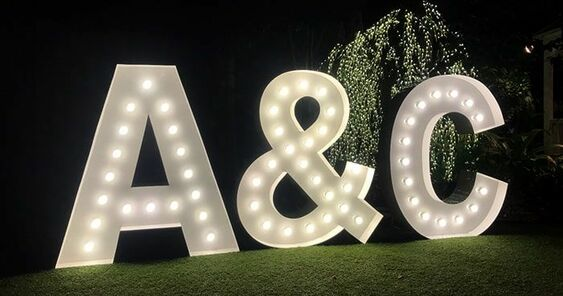 Giant Lighted 4' Marquee Letters rental Nashville, TN