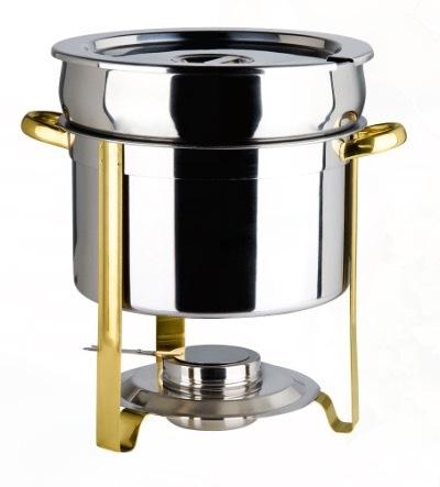 Brass Trim Marmite 5 QT Chafing Dish rental Austin, TX
