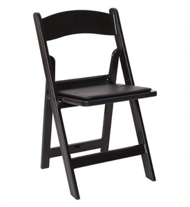 Black Padded Folding Chair rental Austin, TX