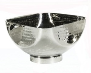 "Hammered Square Bowl10"" Large rental Austin, TX"