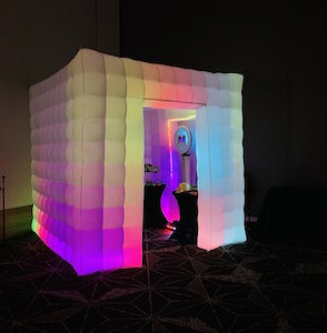 LED Closed Photo Booth rental Austin, TX
