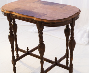 Wood Side Table rental Austin, TX