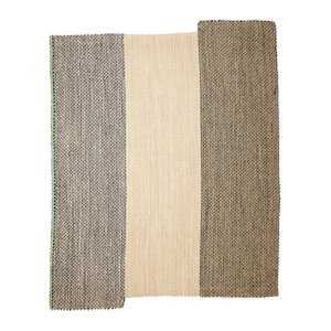 6x7.5 Natural Striped Sisal rug rental Austin, TX