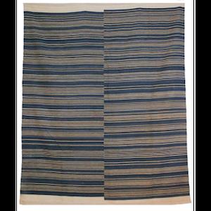 8x10 Indigo Stripe Sisal rental Austin, TX