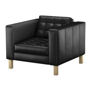 Black Tufted Leather Chair rental Austin, TX