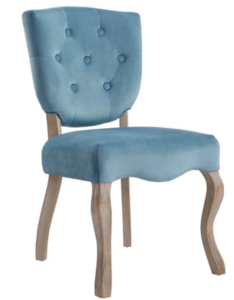 Blue armless chair rental Austin, TX
