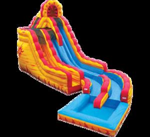 20' Dry or Water Slide - Fire N Ice rental Austin, TX