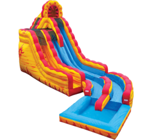 20' Dry or Water Slide - Fire N Ice rental Austin, TX