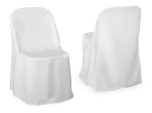 White Poly Chair Cover rental Austin, TX