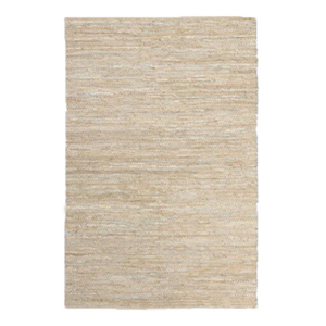 6x9 Gold & Ivory Leather Jute Rug rental Austin, TX