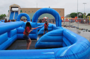 Inflatable Water Tag with Maze rental Austin, TX