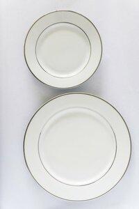 Silver Rim Dinner Plates rental Austin, TX