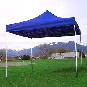 Blue Pop Up Tent rental Austin, TX