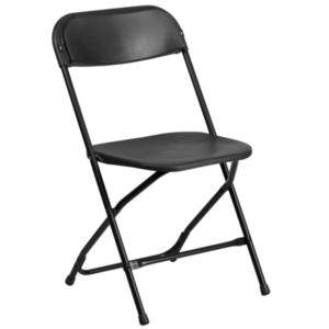 Black Folding Chair rental Austin, TX