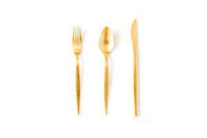 Gold Flatware rental Austin, TX