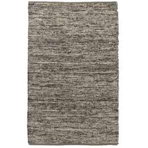 5x8 Charcoal Grey Wool Rug rental Austin, TX