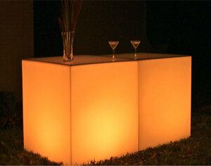 Glow Rectangular Bar rental Austin, TX