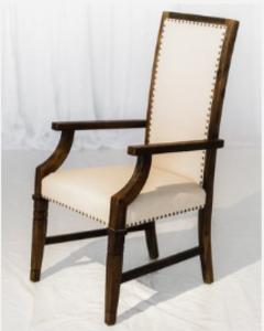 White Leather Chair rental Austin, TX