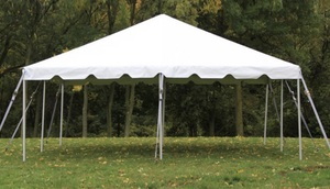 20 x 20 Self-installed Tent rental Austin, TX