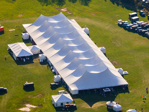 40 x 100 White Frame Tent rental Austin, TX