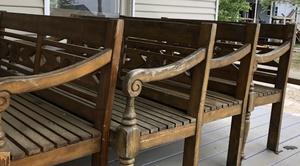 Wooden Benches rental Austin, TX