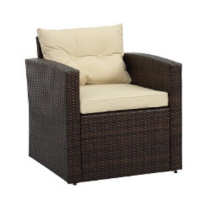 Brown Wicker Arm Chair rental Austin, TX
