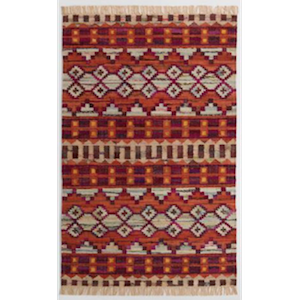 5x8 Warm Red Kilim Rug rental Austin, TX
