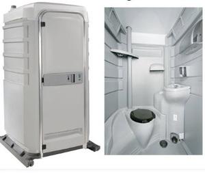 Flushable Portable Restroom rental Austin, TX