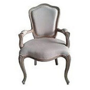 French Country Wood Arm Chair rental Austin, TX