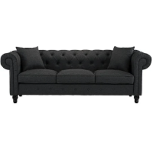 Gray Tufted Sofa rental Austin, TX