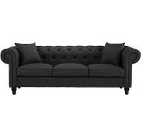 Gray Tufted Sofa rental Austin, TX