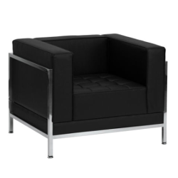 Black Leather Armchair rental Austin, TX