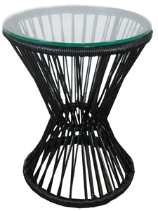 Black PVC Cord Side Table rental Austin, TX