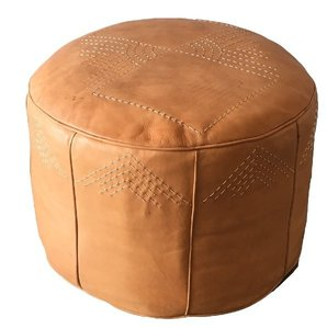 Leather Pouf rental Austin, TX