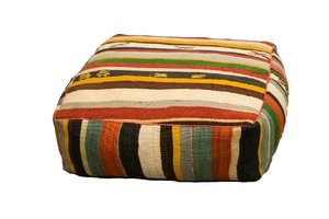 Multi Striped Floor Cushion rental Austin, TX