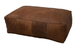 Rectangular Leather Ottoman rental Austin, TX